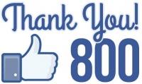 800 polubień na Facebooku