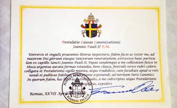 Święty Jan Paweł II jest z Nami