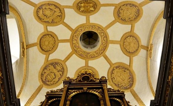 Sklepienie kaplicy po renowacji